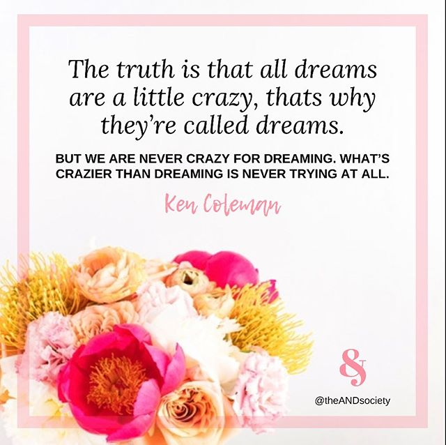 Have a feeling someone's needing this today... 🙋🏿♀️🙋🏻♀️🙋🏾♀️🙋🏼♀️🙋🏽♀️ . Reach for those dreams! The crazier, the better!!!