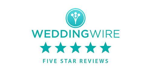 SHER is recognized by WeddingWire with five star reviews.