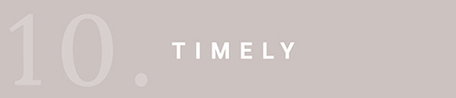 We strive to be timely in everything we do to provide our customers with the very best experience possible.