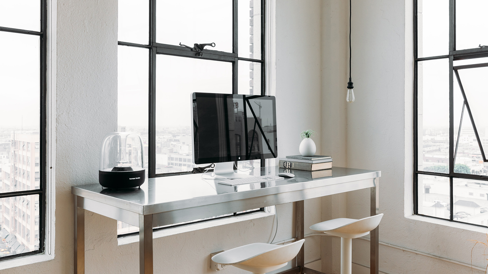 Office-Desk-Workspace-Apple-iMac-Coffee-Soho-New York-Contemporary-Minimal-Loft-Posh-Black via Death To Stock_1.jpg