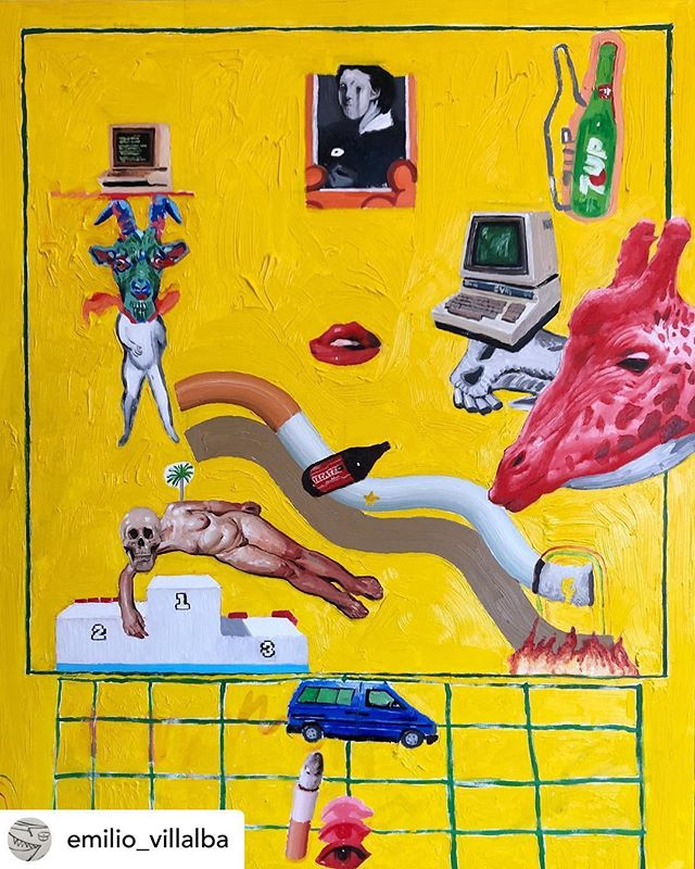 Art by @emilio_villalba 'Old World Dying' ⚡️🥵⚡️ #yellow #art