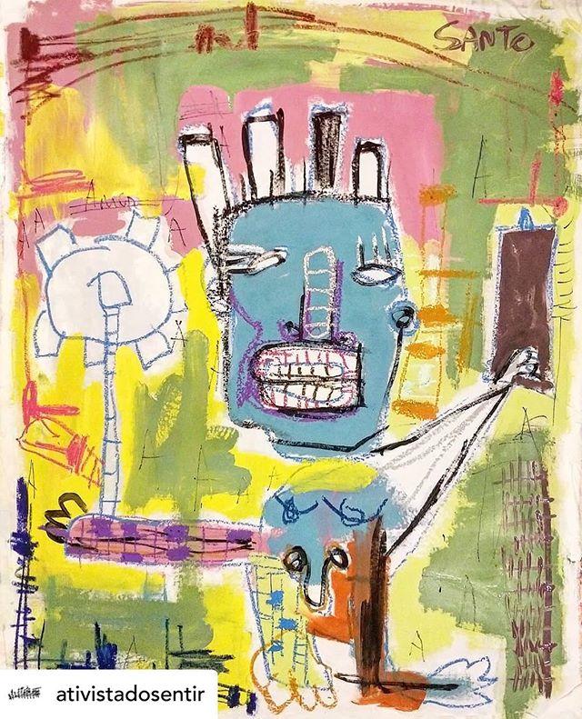 Repost by @artinspiresyou #Art by @ativistadosentir . . . #art #arte #instaartist #artist #encontro #soul #true #verdade #collor #ink #canvas #laque #gel #man #homem #sincero #riso #brazilianart #mixedmediaart #mixedmedia #gallery #garelia