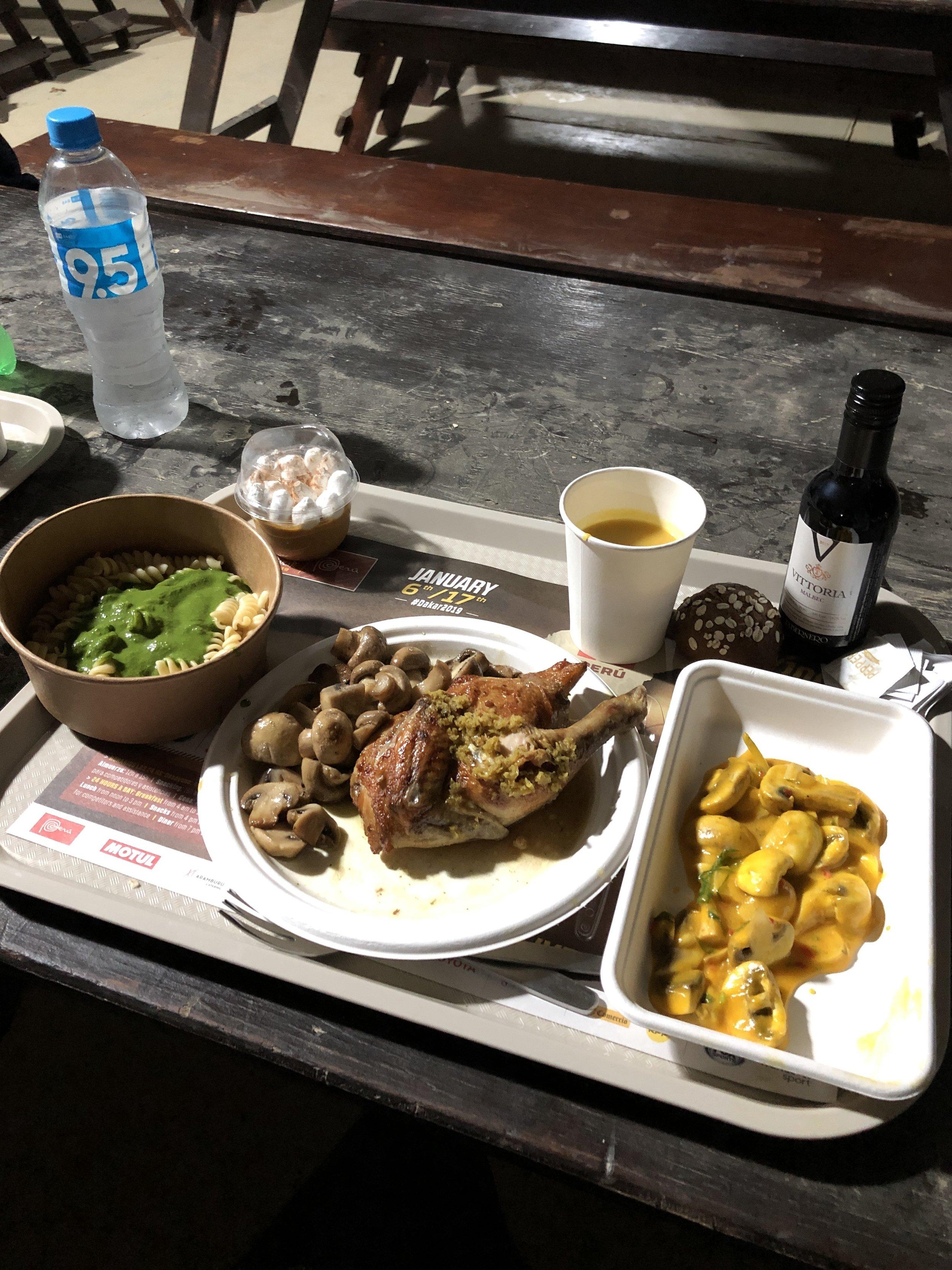 Stage 1 Bivouac Dinner
