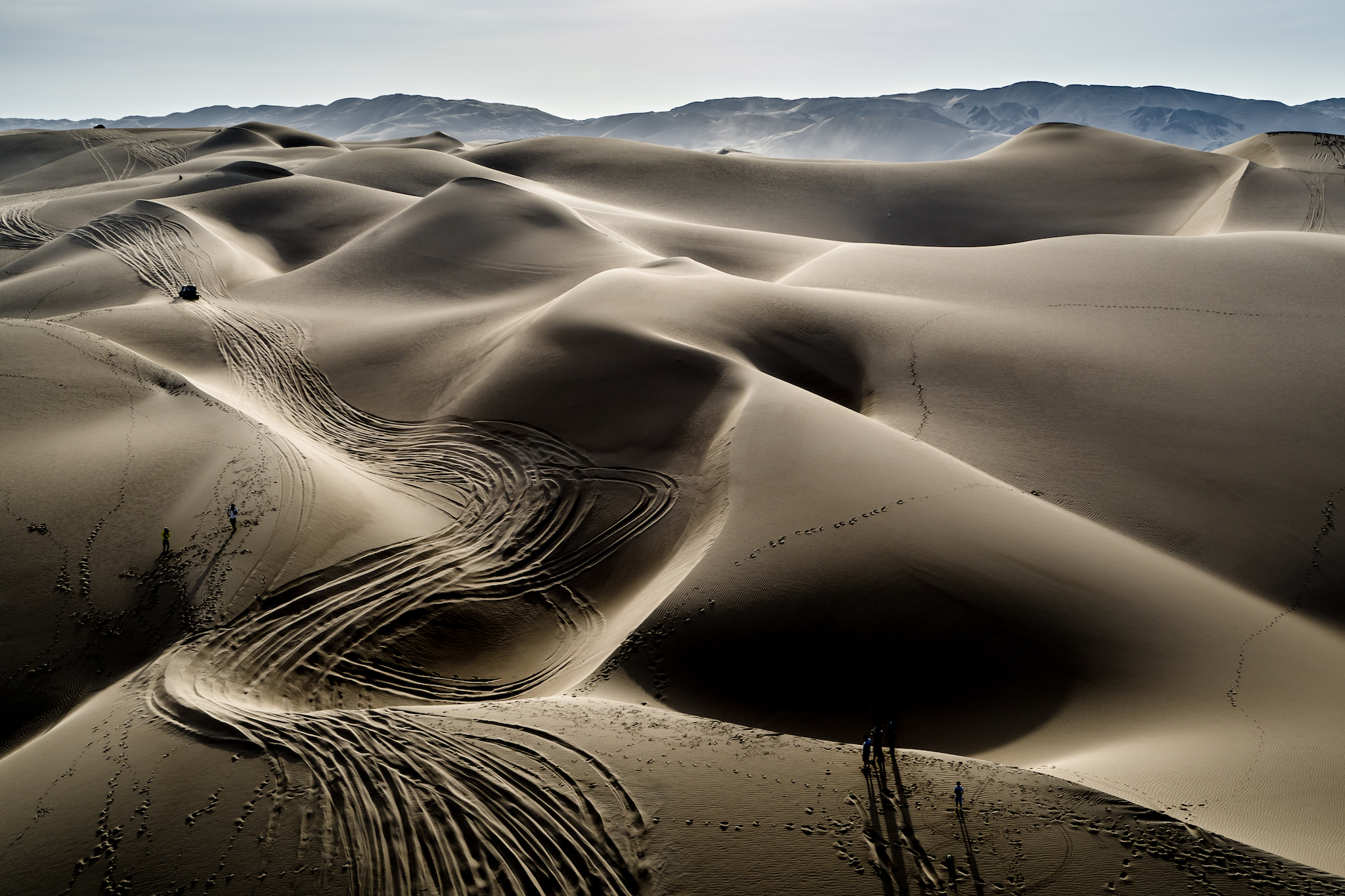 Aerial shots of the dunes just show how massive they really are. You can just make out Casey in the upper left corner. Photo by MCH Photo