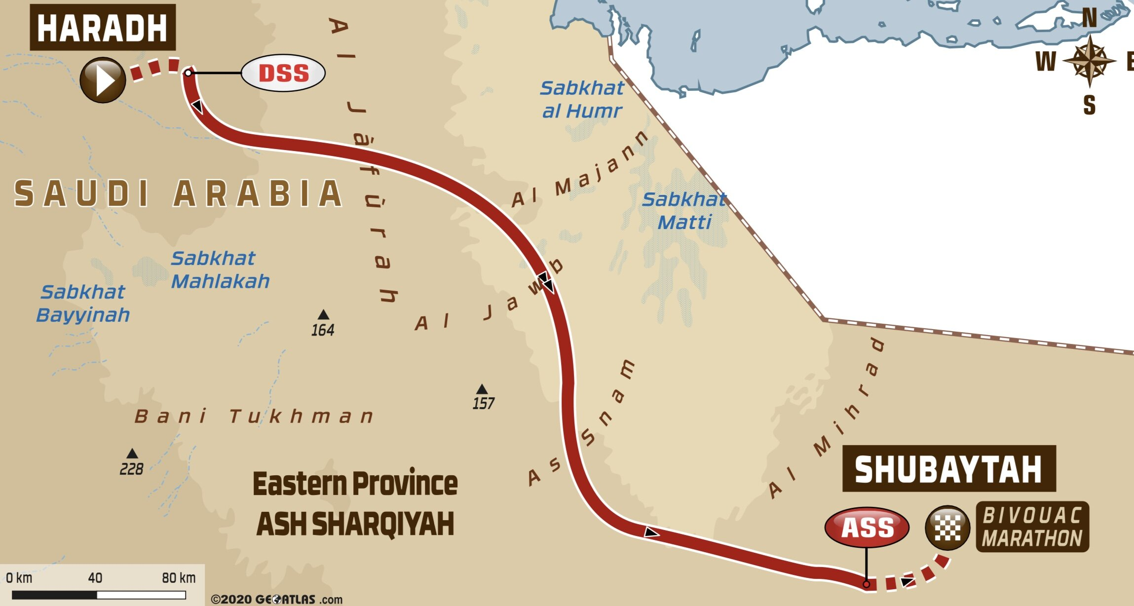 DAKAR 2020 ADVENTURE | STAGE 10 - HARADH TO SHUBAYTAH ... on paris-dakar route map, rally usa map, 2014 dakar rally raid map, rallye de dakar map, dakar world maps, dakar on facebook, dakar africa, dakar map island, songhai tribes map,