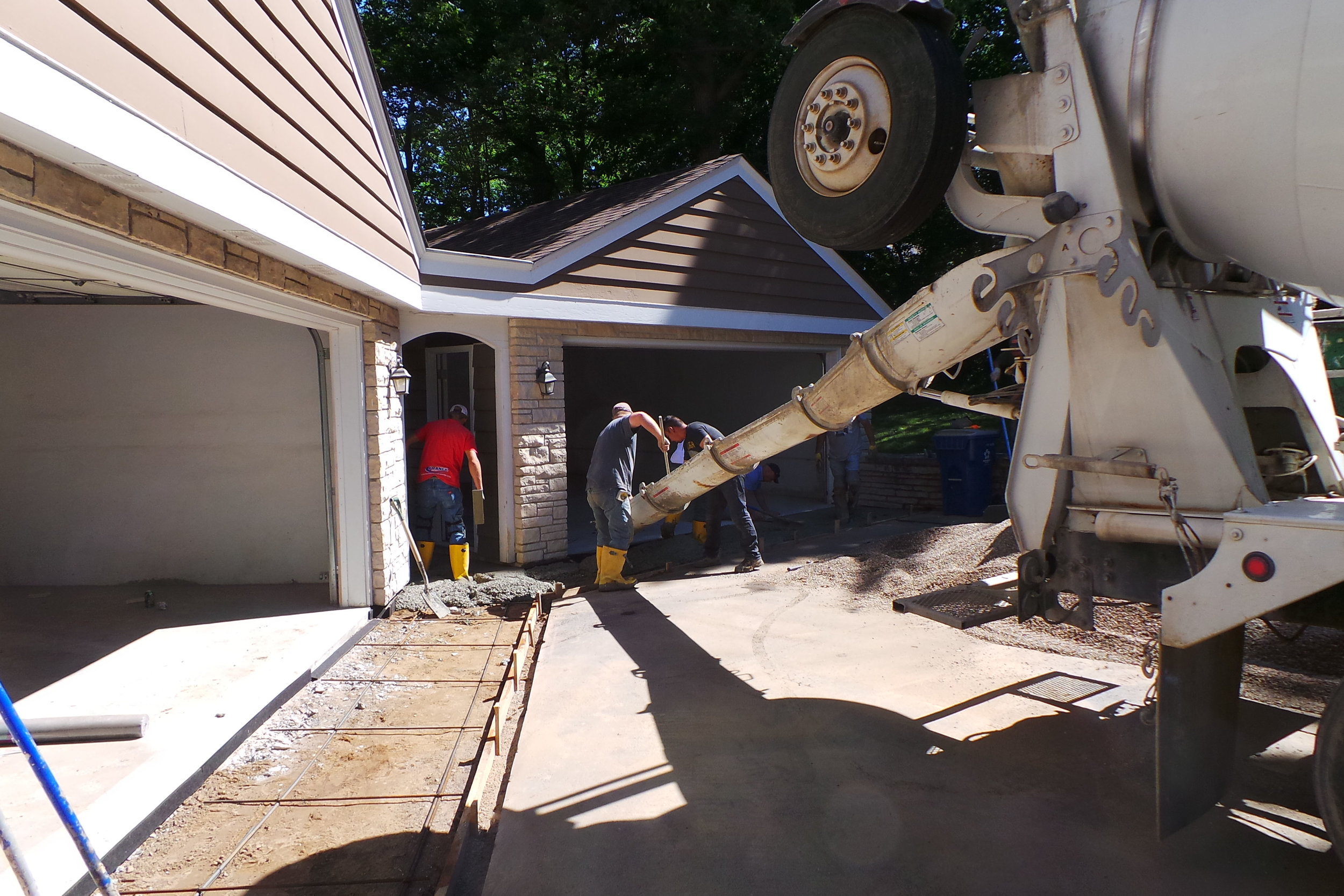 Copperfield Garage Apron Concrete During.jpg