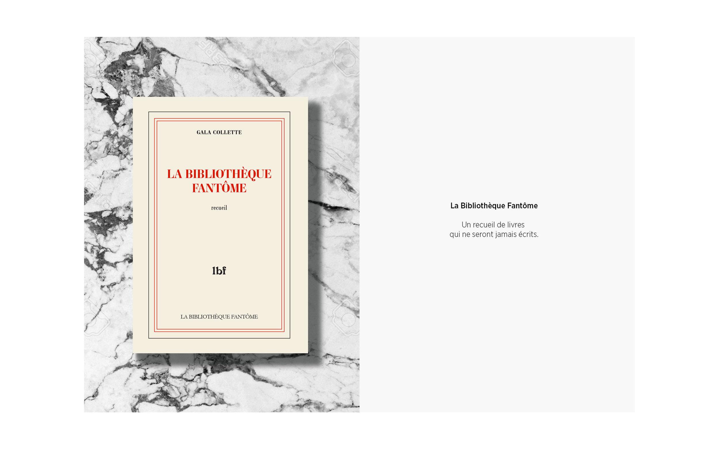La Bibliothèque Fantôme — Projet en cours