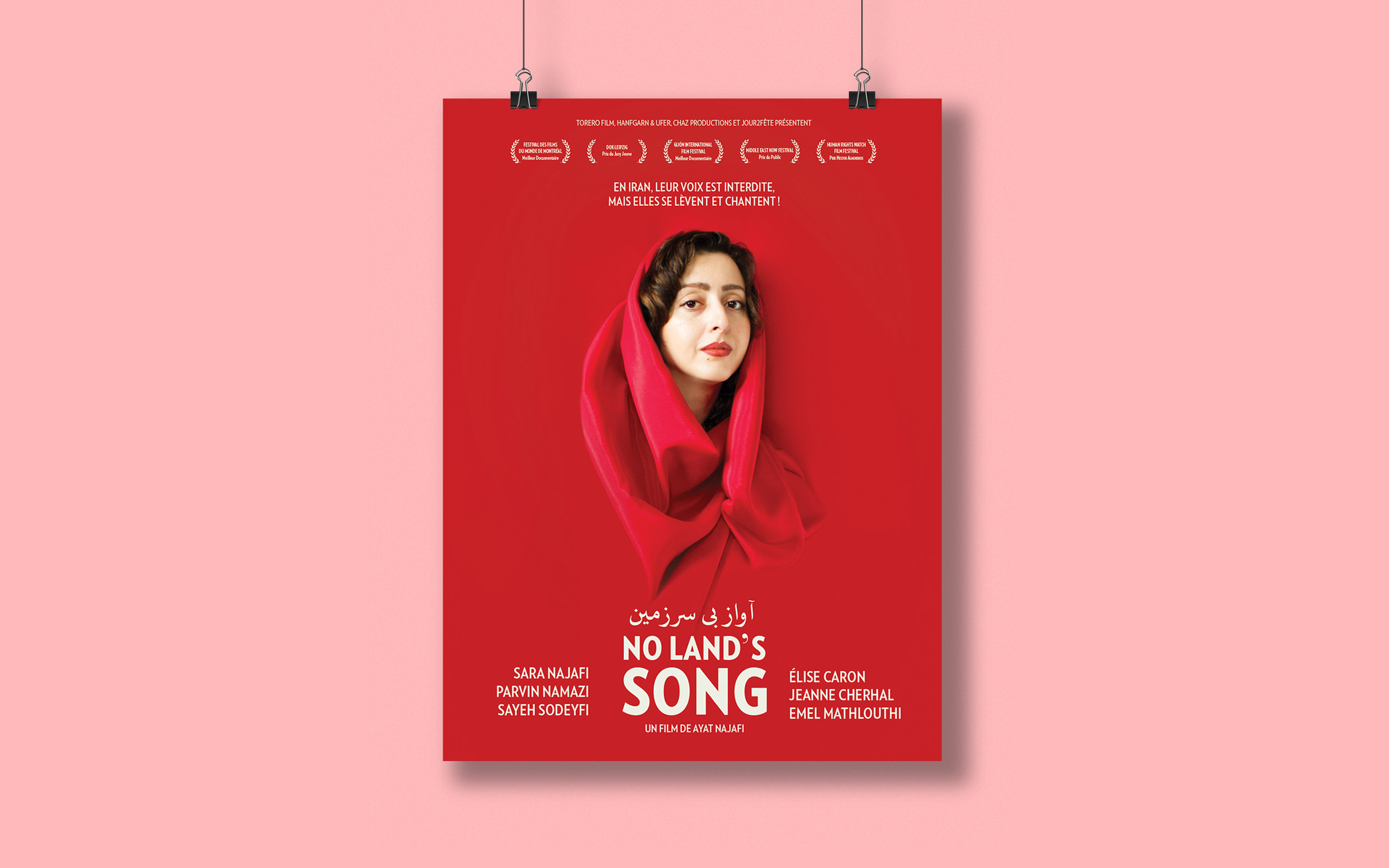 No Land's Song — Campagne d'affichage