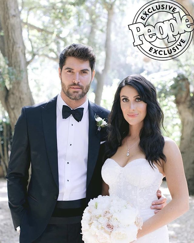 Hot off the @people press!! Congrats @nick__bateman and @maria__corrigan❤️❤️❤️Maria wearing custom Trish Peng.  The amazing team:  Planner + Designer: @charleybluebell Photographer: @jennyquicksall Cinematography: @azizstudios Florals: @butterflyfloral  Venue: @calamigosranch Gown: @trishpeng Rentals: @chiavarichairrentals Linens: @latavolalinen Hair: @salonbenjamin Bride makeup: @makeuptherapy Bridesmaids makeup: @805makeup Cake: @thebutterend Donuts: @primosdonuts Photobooth: @hashtagphotobooth Lighting: @thelighterside Reverend: @clinthufft Calligraphy: @calligkatrina DJ: @thisisgoodmood Invitations + table numbers: @occasiontocelebrate Dance floor + mirror: @harryspartyrental