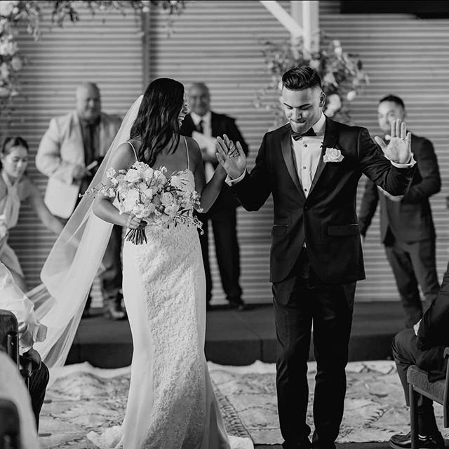 Married! An oldie but a goodie from Brittany and Jerreau's wedding captured by @ramboestrada 💞💓@brittany_newport @jarreaulloy