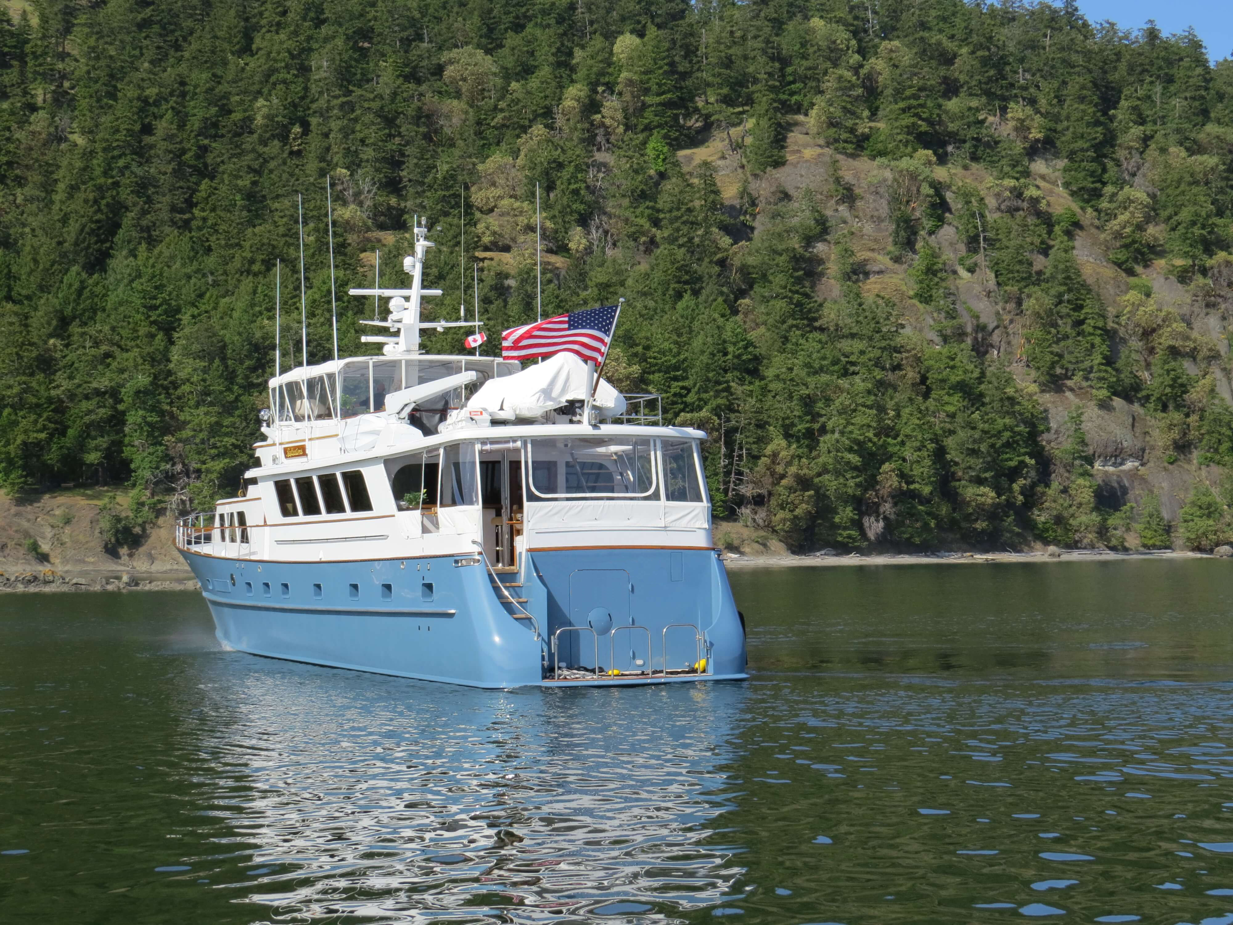 Stern View (before the Spring 2018 refit)