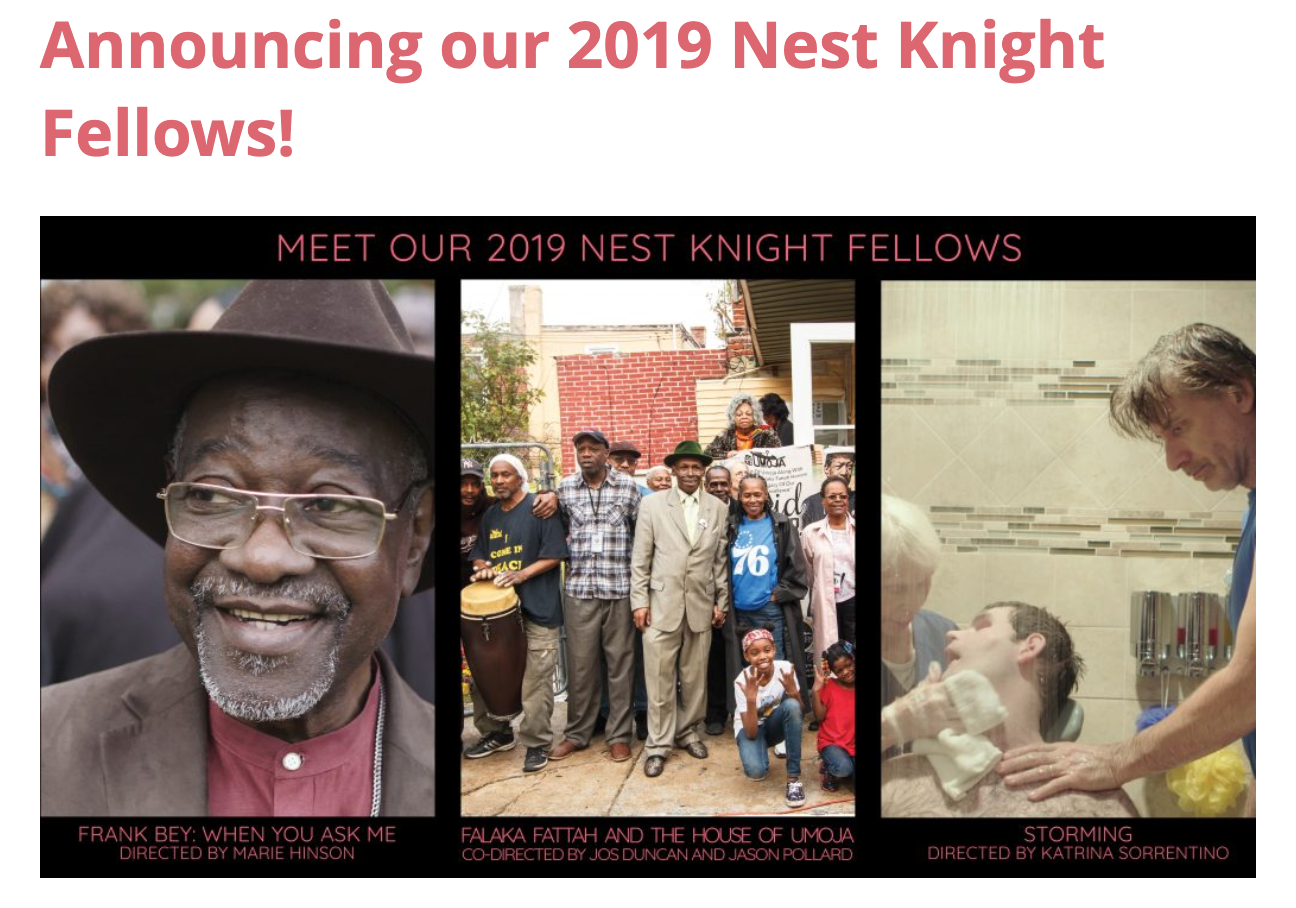 Storming is one of three films selected for the Nest Knight Fellowship directed by a first-time female director hailing from Philadelphia.