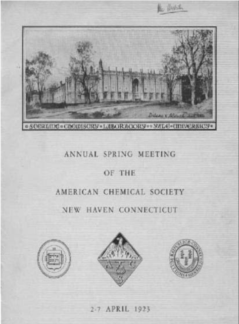 Annual Spring Meeting of the ACS NH, April 1923