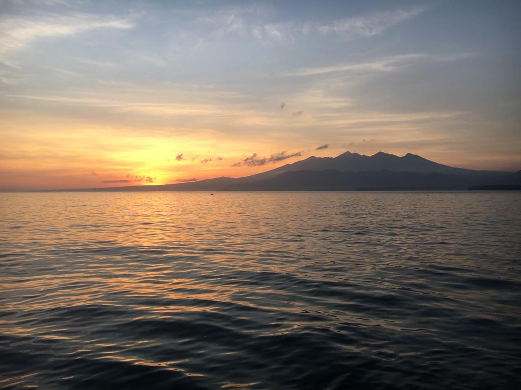 Sunrise on Gili Air island