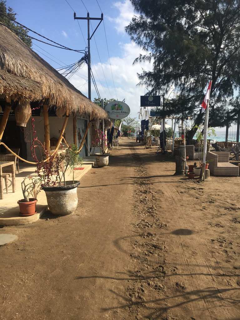 Taking a break from cars and motorbikes on Gili Air
