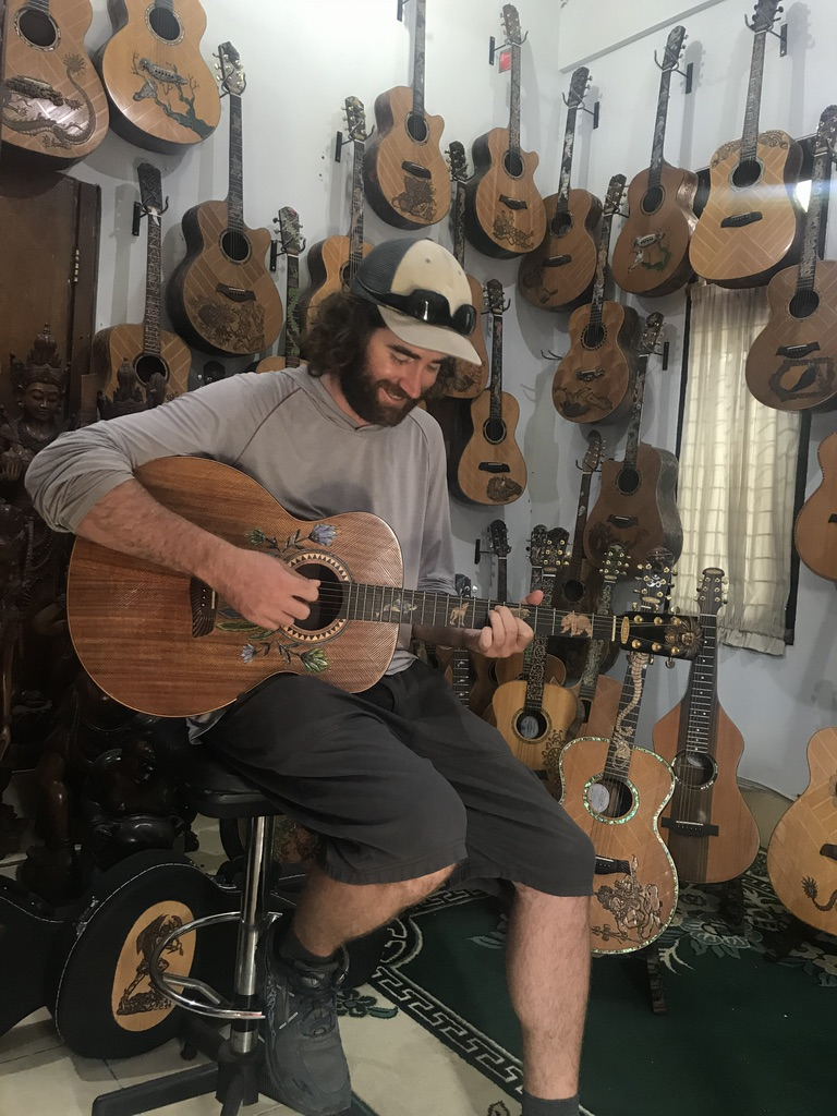 Checking out Blueberry Guitars