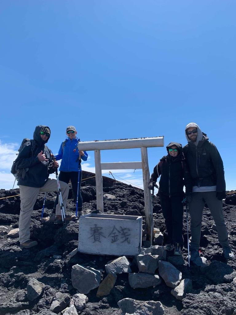 Summit shrine with friends