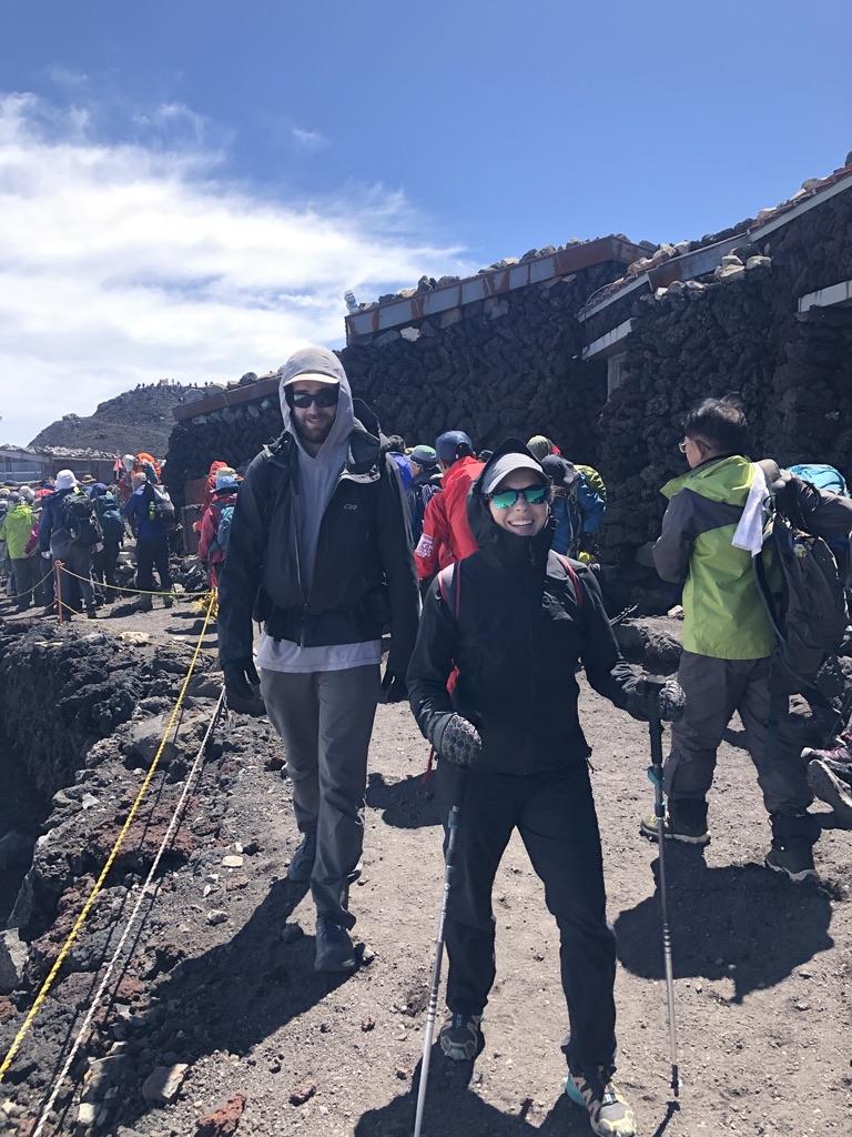 Near the summit of Mount Fuji