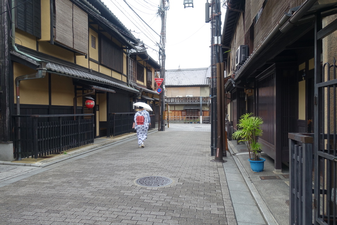 Maiko- Geisha in training, on her way to school in Kyoto