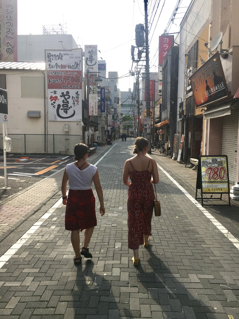 Erin and Mia exploring the outskirts of Tokyo