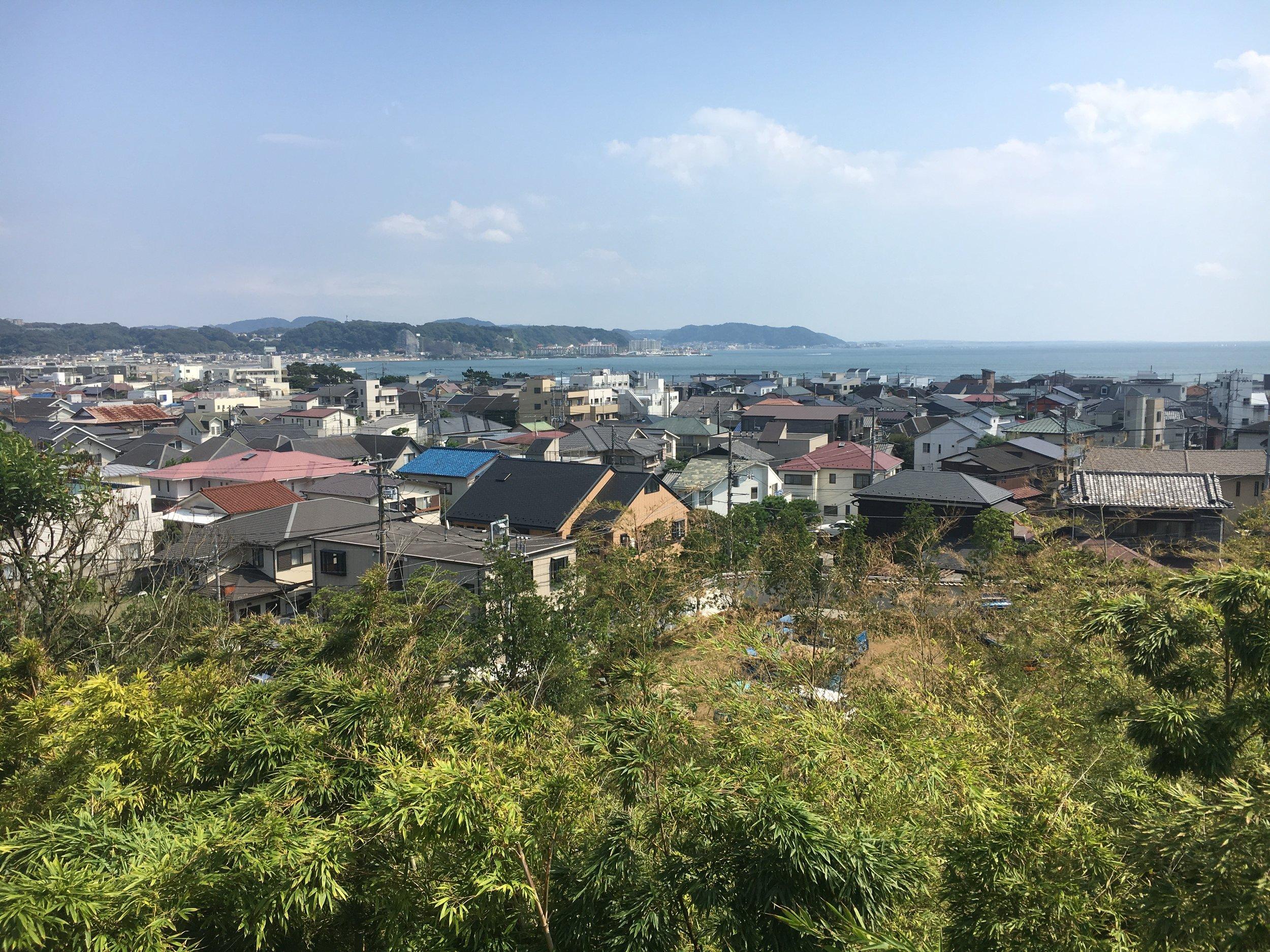 Overlooking coast south of Tokyo