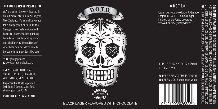 Garage Project's Day of the Dead label - on every one of the brand's labels they tell the story of the brand and the beer.