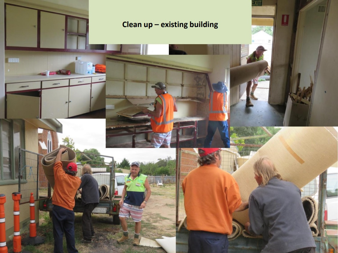 Clean up of existing building