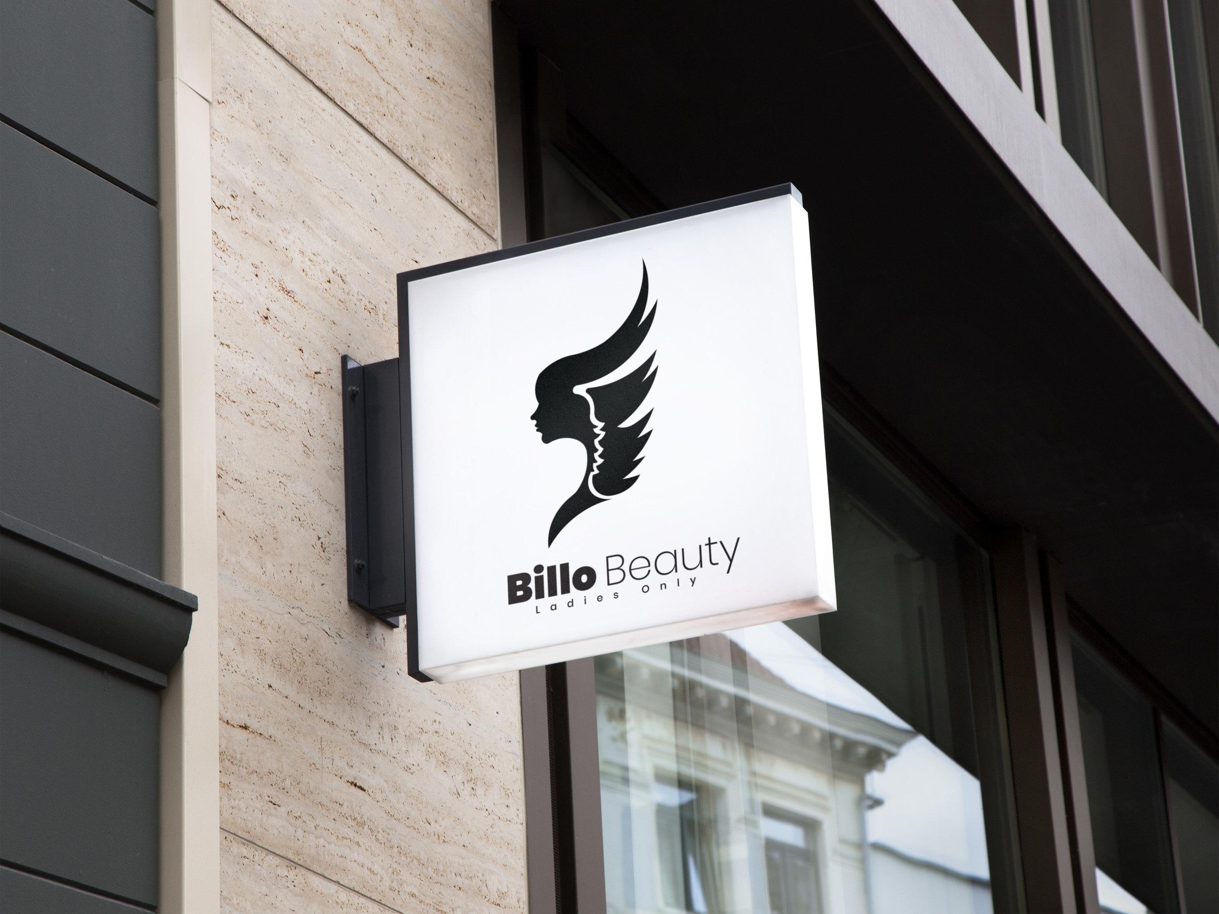 Billo Beauty logo design