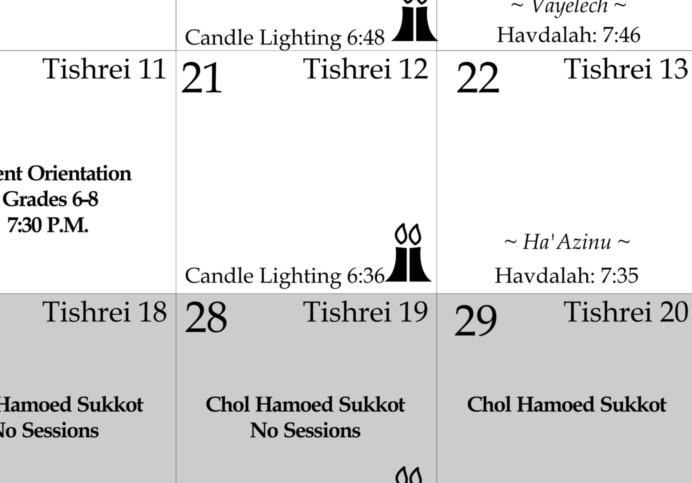 Bi-liingual Calendar  Monthly Calendar that shows US. and Jewish calendar dates