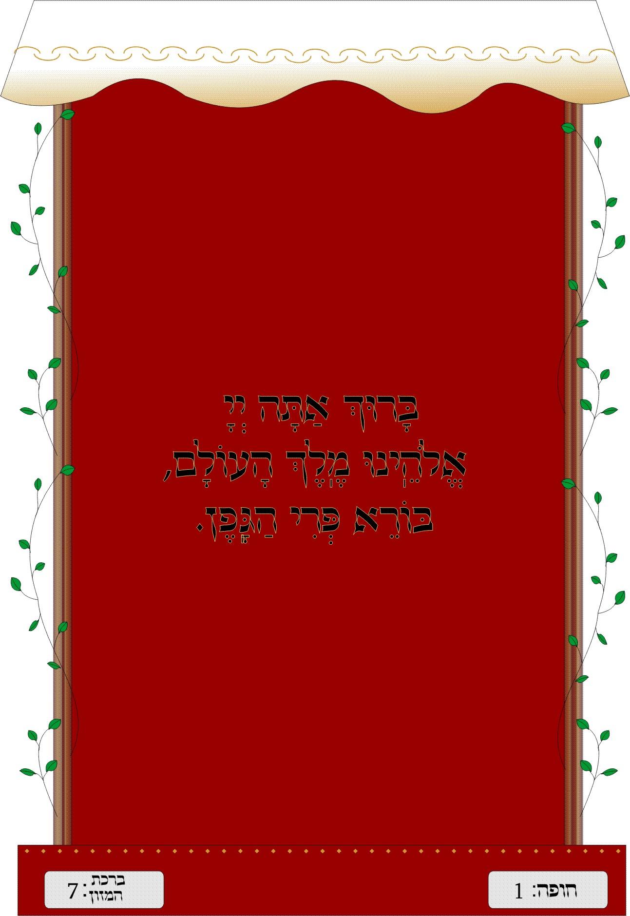 Sheva Brachot - Blessing #1