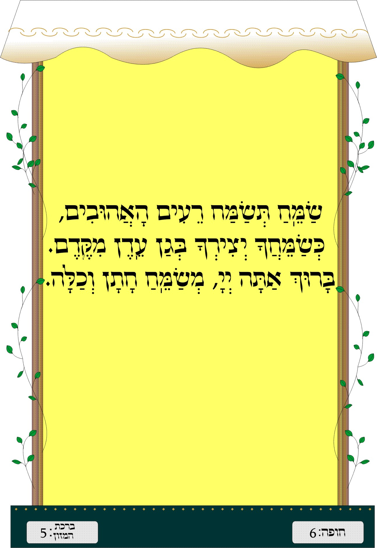Sheva Brachot - Blessing #7
