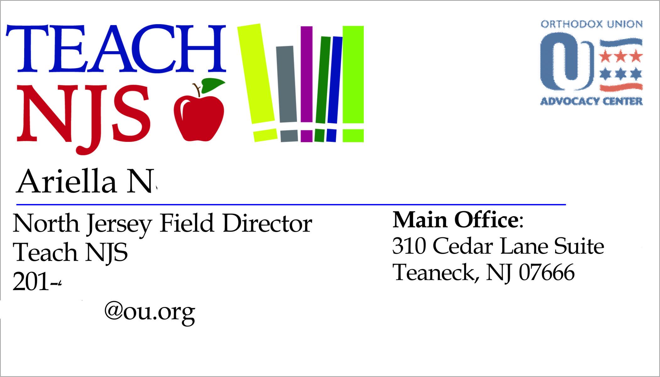 Teach NJS Business Card
