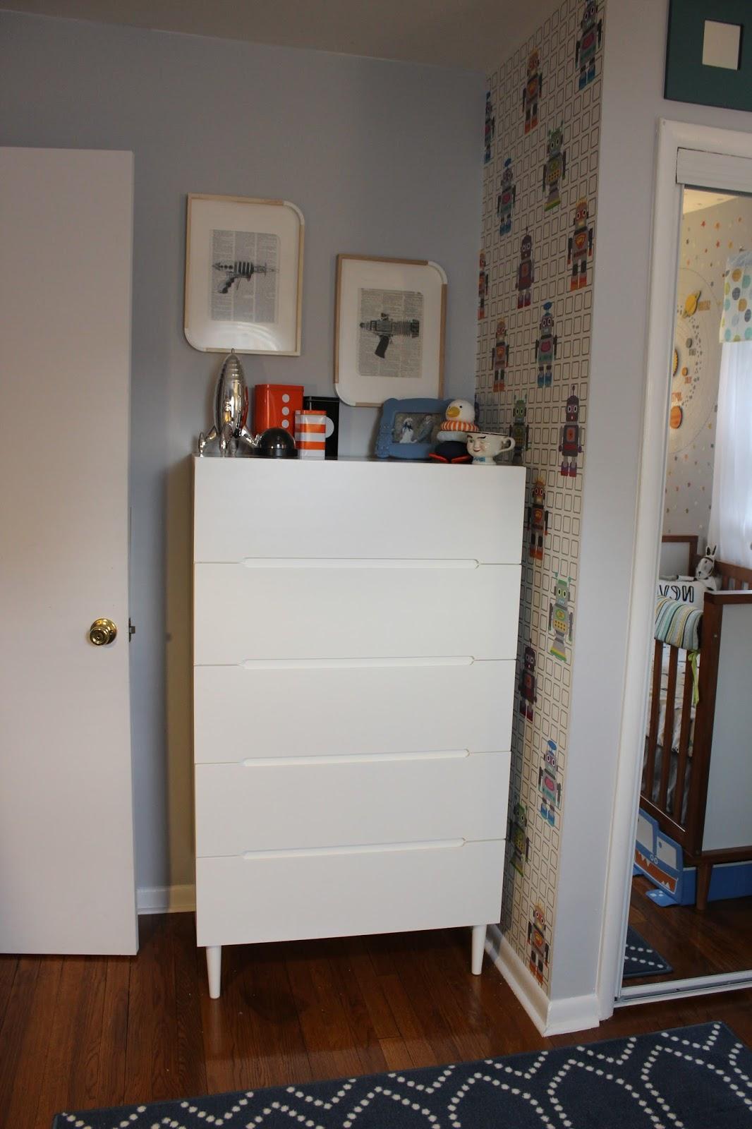 Dresser:  Ikea Sveio (discontinued--which sucks I love this thing!)