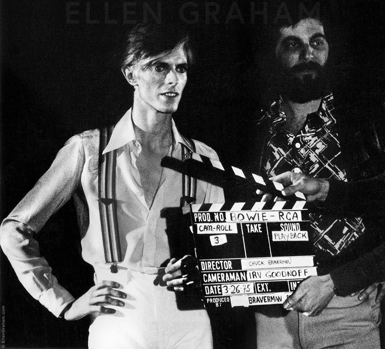 David Bowie, Set Crew, Rehearsal, Los Angeles, CA, 1975
