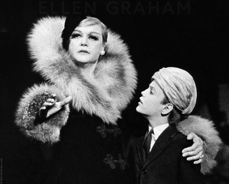 "Angela Lansbury, Frankie Michaels, ""Mame"", Broadway, New York, NY, 1966"