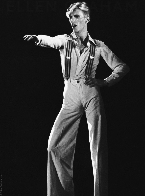 David Bowie, Rehearsal, Los Angeles, CA, 1975