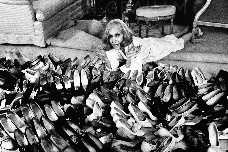 Gloria Swanson, At Home, New York, NY, 1977
