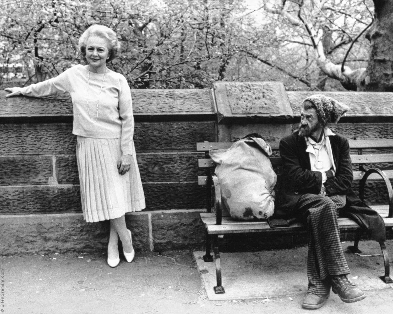 Olivia de Havilland, Central Park, New York, NY, 1980