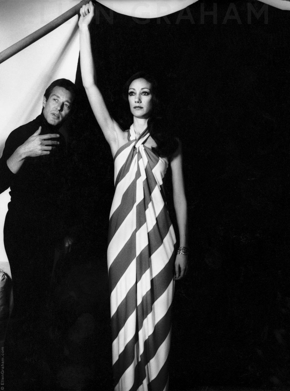 Halston, Marisa Berenson, New York, NY, 1975