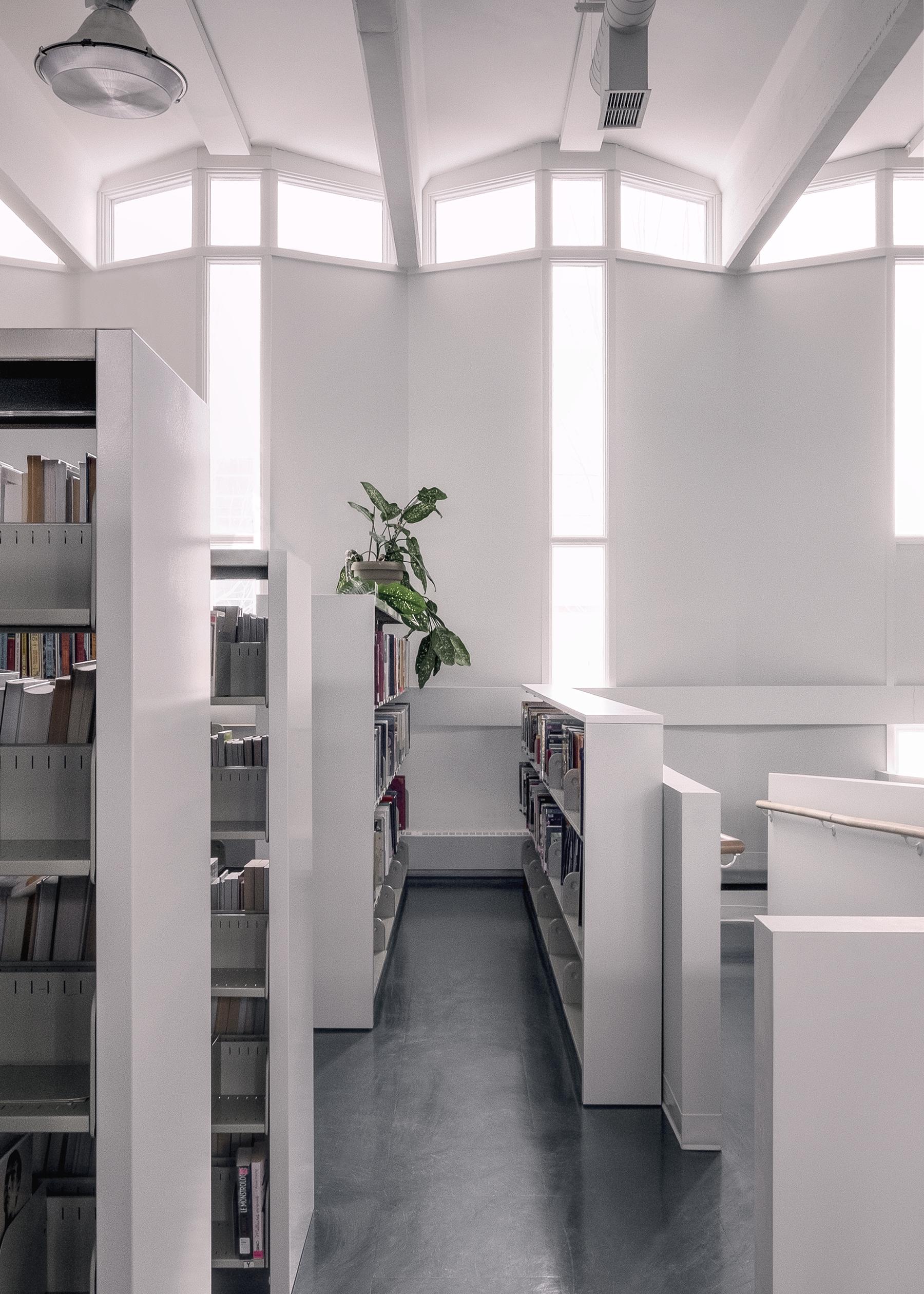 Photo:  Félix Michaud   Projet:  La Mosaïque , bibliothèque municipale,  La Pocatière