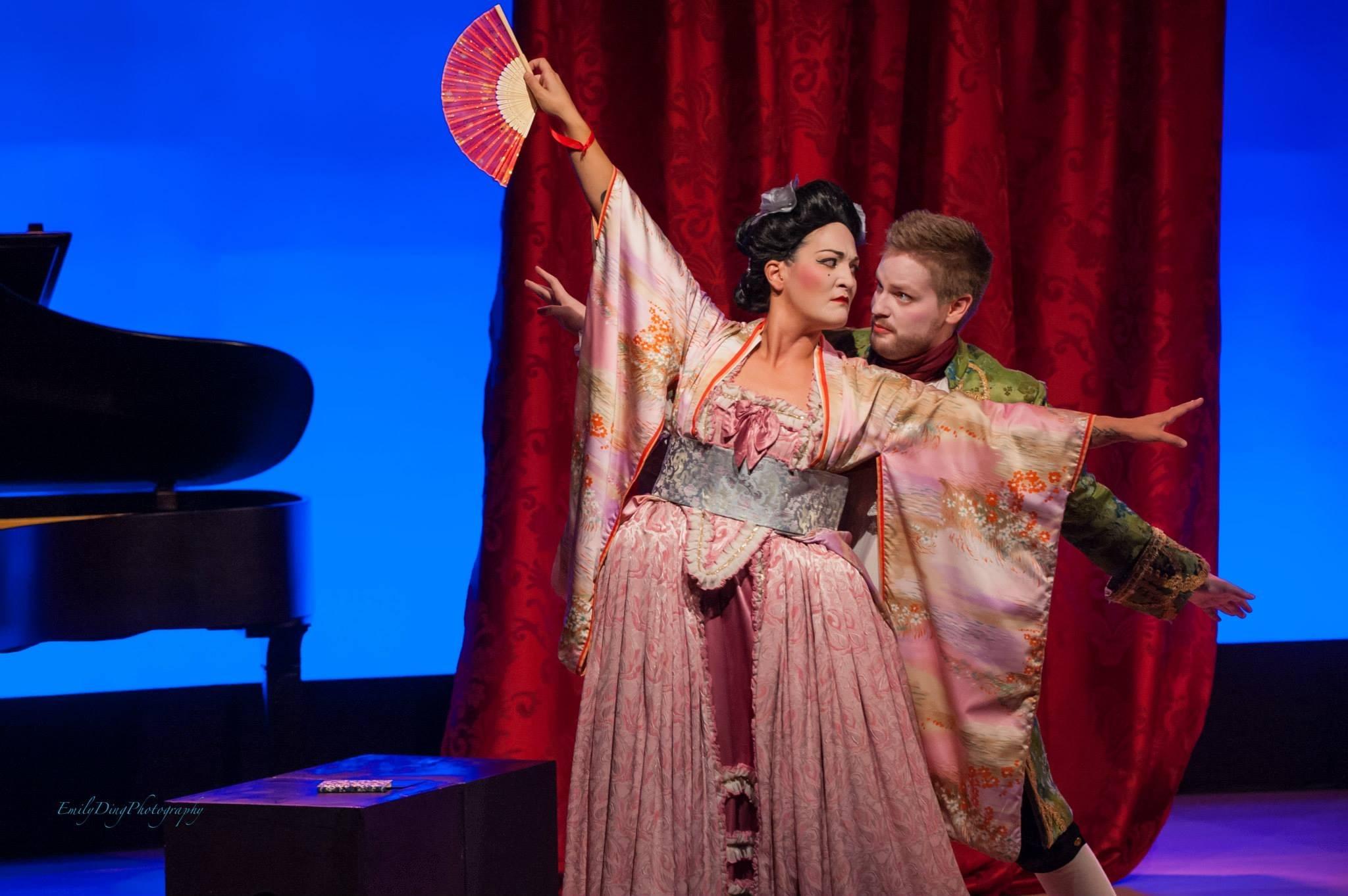 Teiya Kasahara and Justin Ralph in Opera 5's  Bataclan  (Offenbach), Sep 2013. Photo credit: Emily Ding.