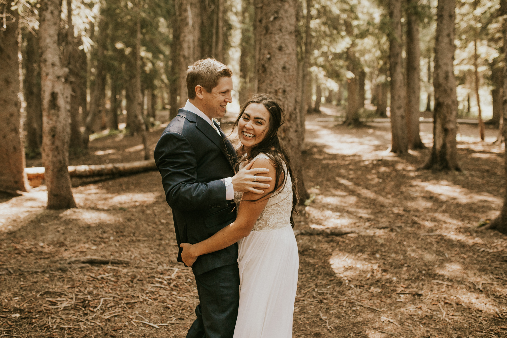 mountain lakeside wedding photos