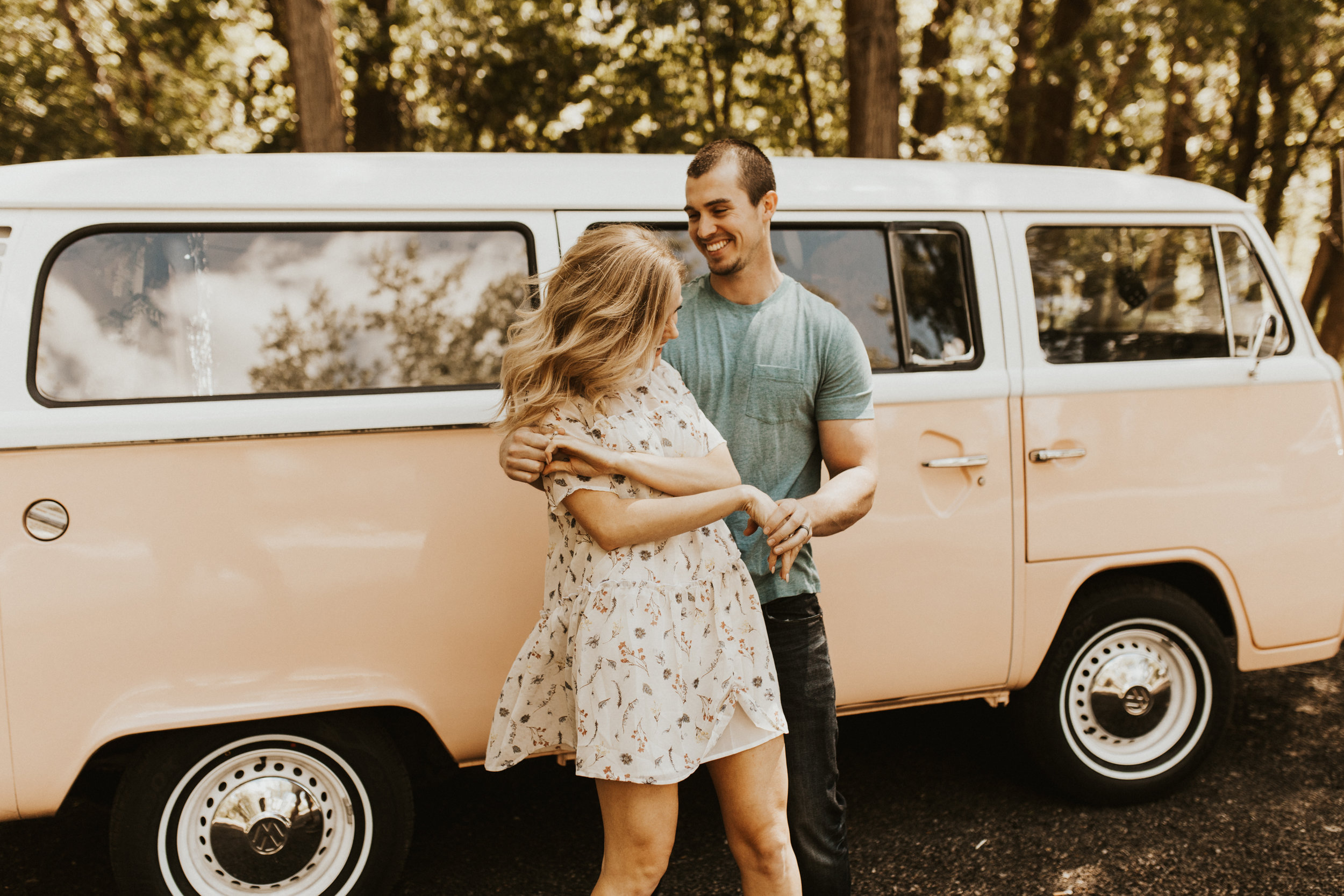 VW bus engagement photos