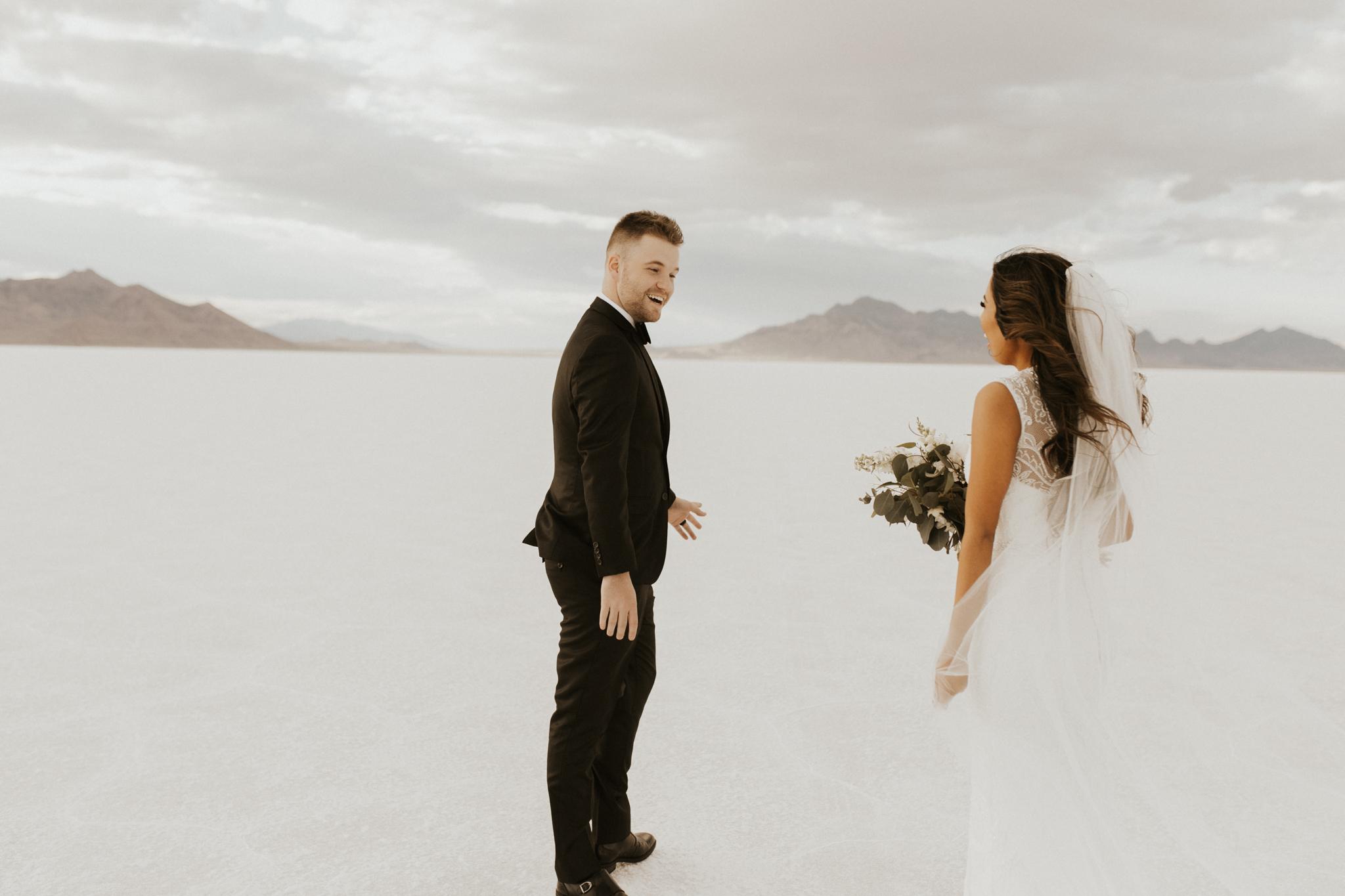 bonneville salt flats bridal session