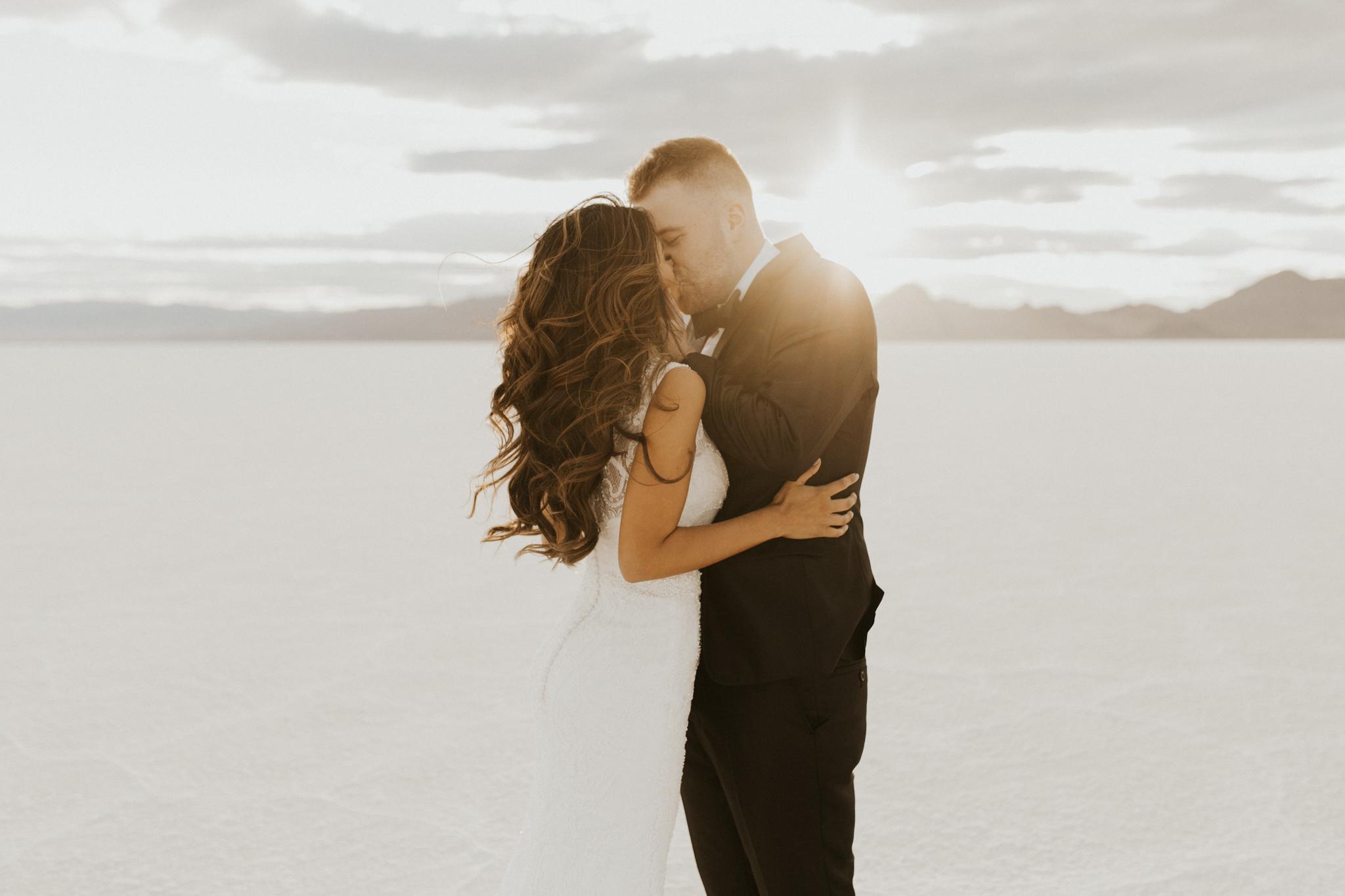 bonnevill salt flats bridal session