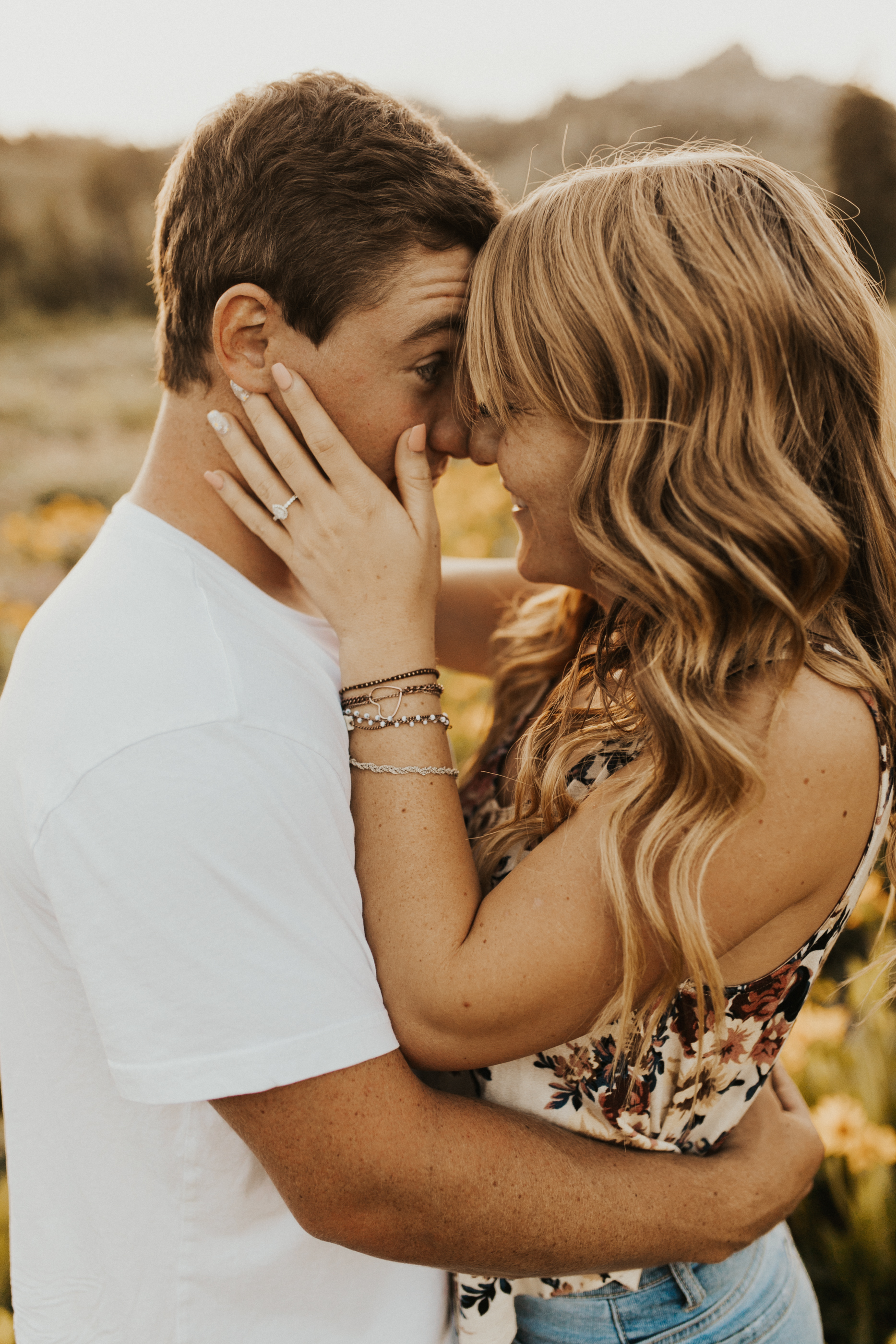 summer mountain engagement session