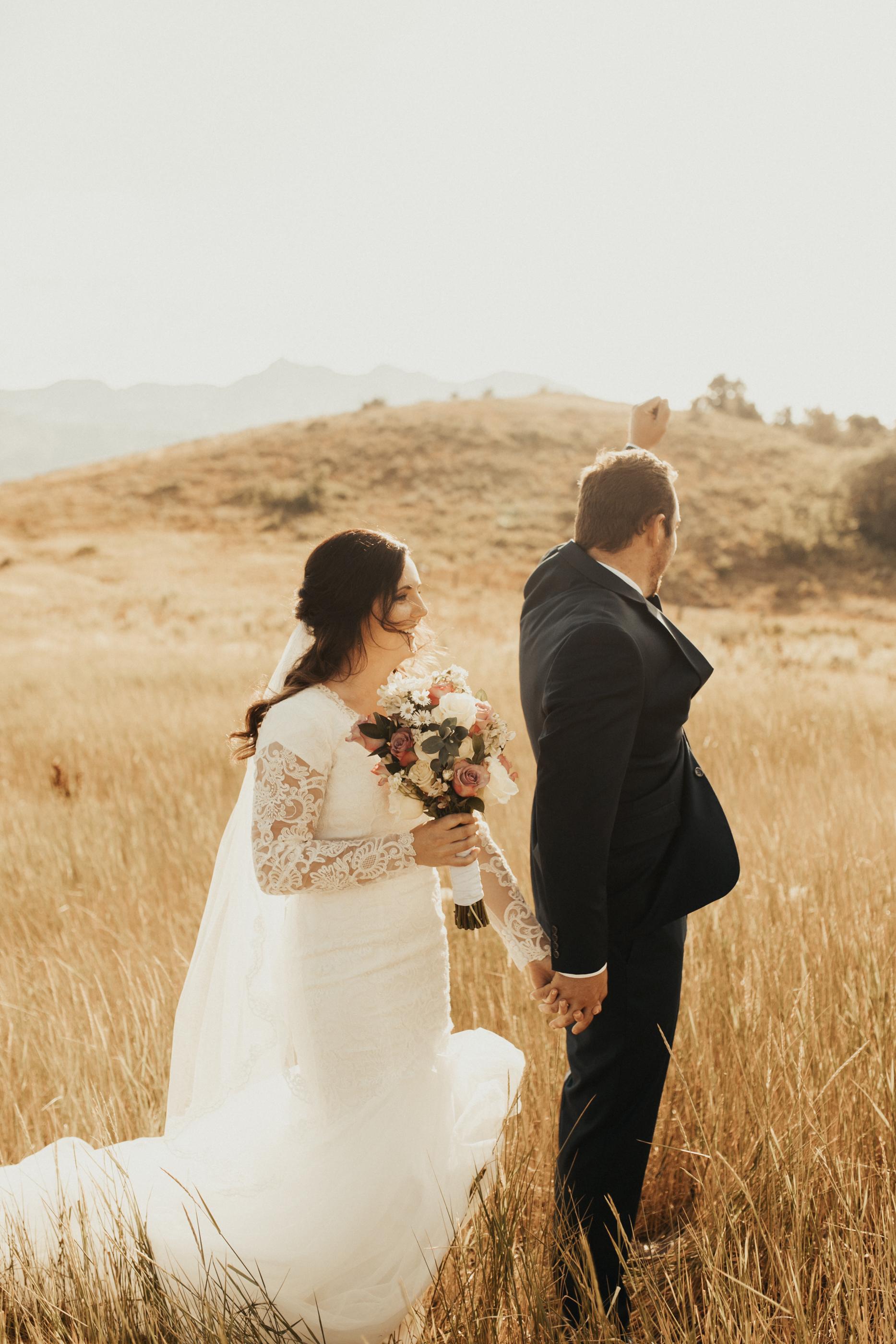 Sumer mountain bridal photos