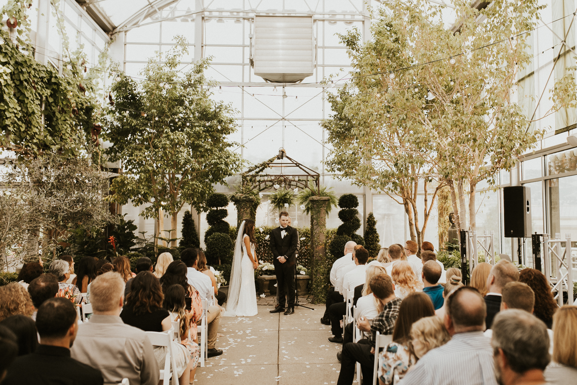 greenhouse wedding photography