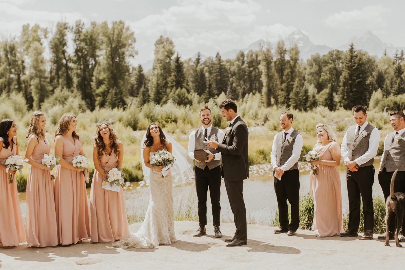 Jackson hole wedding photos