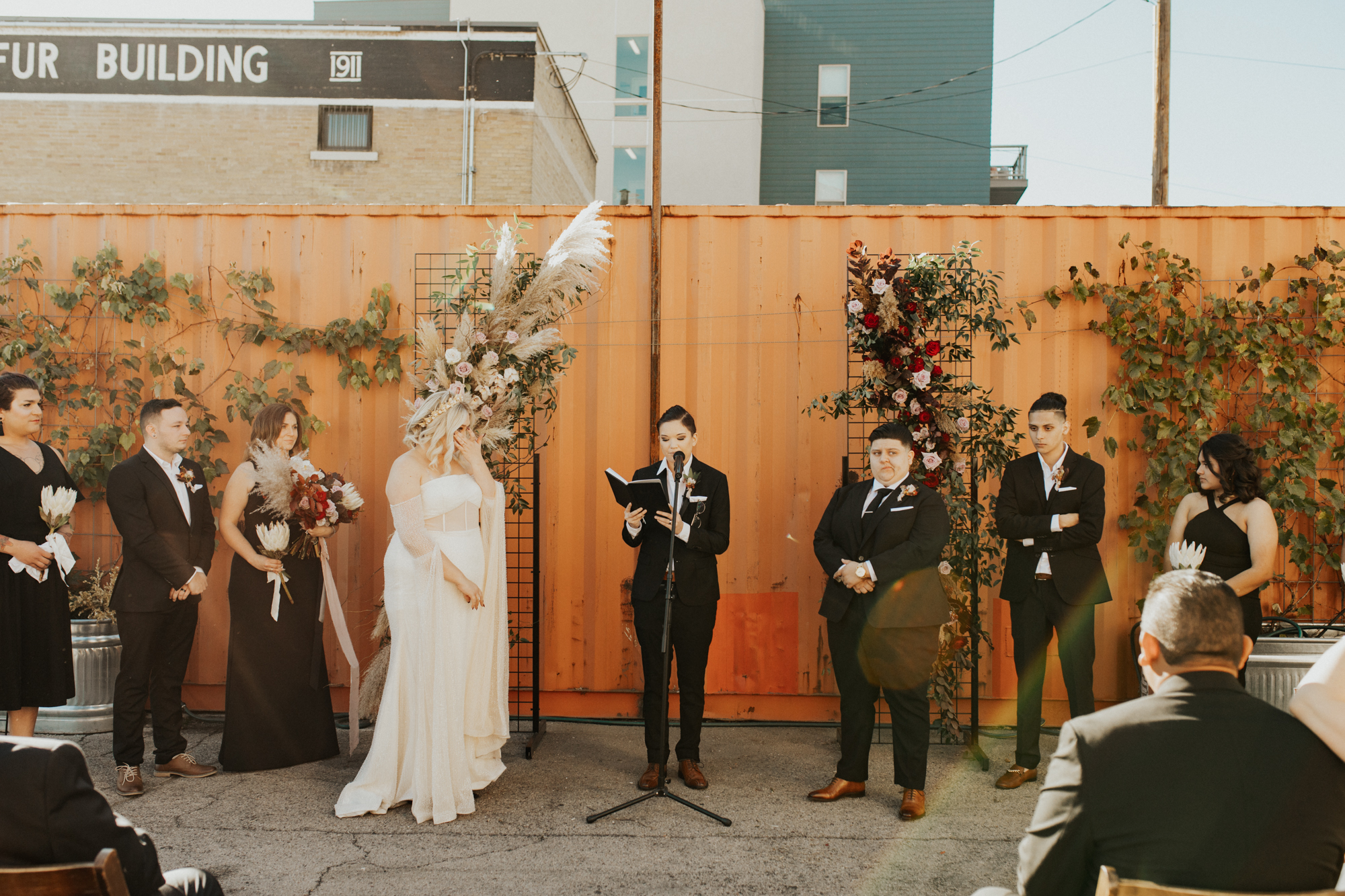 LGBTQ industrial wedding photos